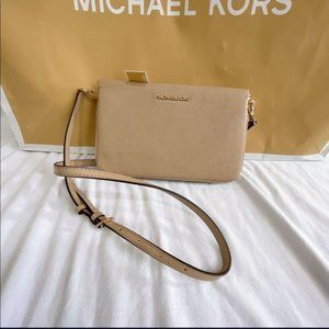 NWT Michael Kors beige Crossbody Bag